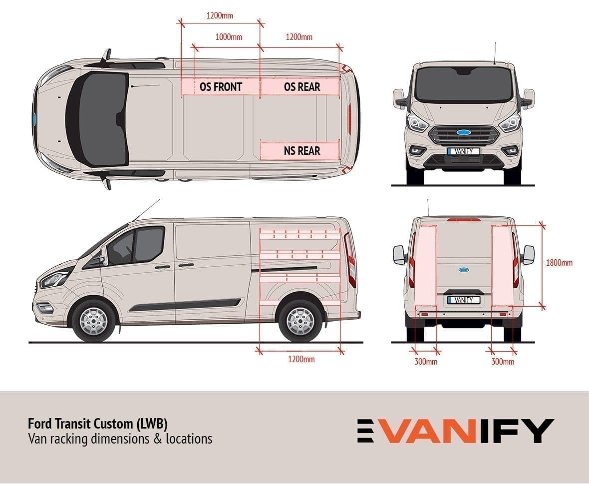 Ford Transit Custom van racking